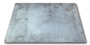 XL Glas Herdabdeckplatte Herd Abdeckung Platte Ceranfeld Schutz Design Beton NEU