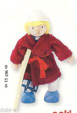 Goki 51614 - Biegepuppe Patient  für Puppenhaus Holz