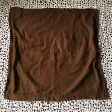 Nautica Pillow Sham Euro Square Chocolate Brown Solid Pinstripe 26 in.
