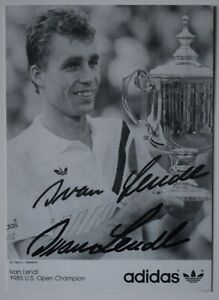 Ivan Lendl Signed Autograph 6x4 official photo club card Tennis Wimbledon COA