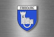 sticker adesivi adesivo stemma etichetta bandiera auto svizzera friburgo