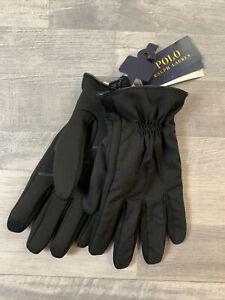 Polo Ralph Lauren Men's Winter Gloves Black Size XL Soft Shell Touch $48
