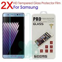 2X 9H Real Tempered Glass Guard Screen Protector Film For Samsung Note 8 5 4 3 2