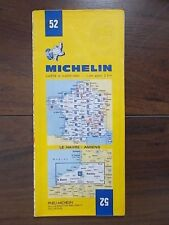 MICHELIN FOLDING SHEET TOURIST MAP 52 FRANCE - LE HAVRE - AMIENS