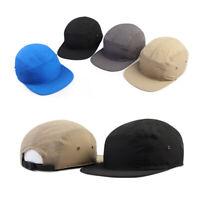 Unisex Mens Womens Eyelets Unicolor Casual Camp Cap Baseball Cap Strapback Hats