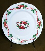 """Vintage Southington by Baum - """"Victorian Holiday"""" Christmas 10"""" Dinner Plate"""