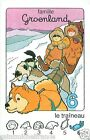 CHIENS DE TRAINEAUX Sled dog Groenland Greenland PLAYING CARD CARTE A JOUER