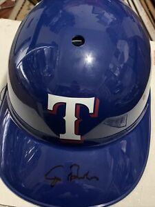 George Bush Texas Rangers Signed Autographed Full Size Souvenir Helmet