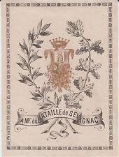 EX-LIBRIS BATAILLE de SÉVIGNAC - Pontacq - Toulouse - XIXème siècle
