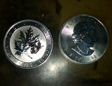 ONE 2015 Silver $8 Silver Canadian Maple Leaf 1.5 oz BU Coin
