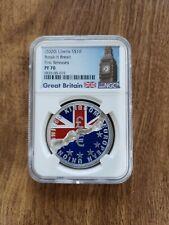 2020 Great Britain Liberia S$10 break-it Brexit silver coin FR PF70