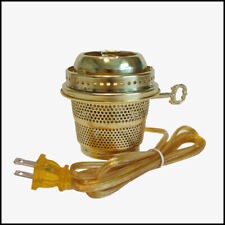 Aladdin Lamp Style Brass Electric Burner for Lox-On Chimney New