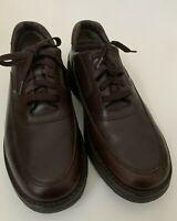 ROCKPORT men's SZ 11 Prowalker Brown Lace Up Leather  Shoes Casual 503002