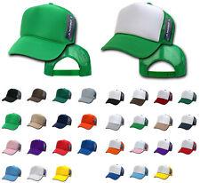 Decky Classic Trucker Hats Caps Foam / Mesh Two Tone Blank Plain Solid Snapback