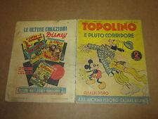 WALT DISNEY GLI ALBI D'ORO ANNO Ii° N°13 TOPOLINO E PLUTO CORRIDORE GEN. 1938
