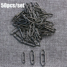 50PCS Stainless Steel Tactical Anglers Fishing Snap Power Clips Quick Change