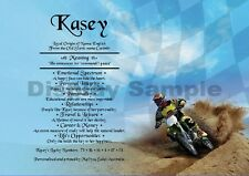 Peronsalised Gift - First Name Meaning Certificate  - Motorcross Bikes