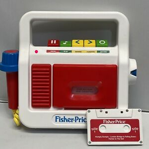 Fisher Price Tape Cassette Player Recorder with Microphone 2017 Mattel