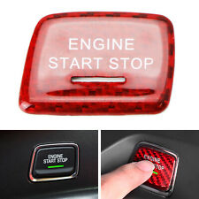 Red Real Carbon Fiber Engine Push Start Button Cover For 14-19 Chevy C7 Corvet
