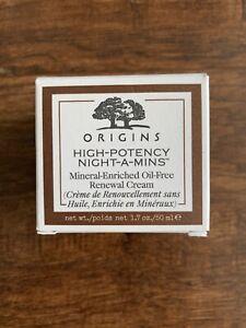 NIB ORIGINS HIGH-POTENCY NIGHT-A-MINS MINERAL-ENRICHED OILFREE CREAM 1.7oz/50m
