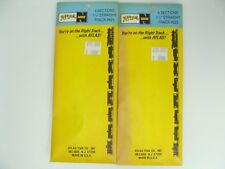 """New Lot of 2 Atlas N Gauge HO Scale 4 Sections of Straight Track 1.5"""" #825"""