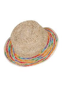 New Rainbow Hemp Wire Rim Festival Hippie Hat
