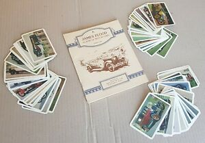 James Flood Album of Motor Cars No.1 & 66 Swap Card Collection Vintage As New