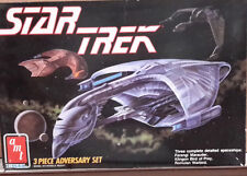 Vintage STAR TREK 3 Piece Adversaries  Model Kit-AMT ERTL-FREE S&H(STMO-6858)