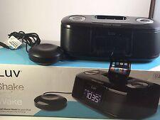 Universal Ipod Stereo Speaker Dock W/ Fm Radio-Dual Alarm Clock & Pillow Shaker