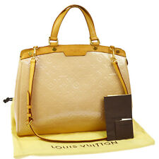 AUTH LOUIS VUITTON VERNIS BREA GM 2WAY HAND BAG ROSE FLORENTIN M91618 O01095