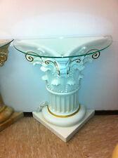 Säule Medusa Mäander Style Dekosäule Säulen Tisch Regal Beleuchtet  Barock 6827