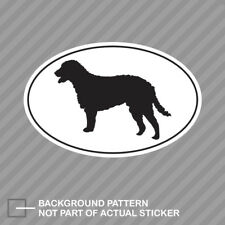 Curly Coated Retriever Euro Oval Sticker Decal Vinyl dog canine pet
