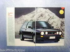 QUATTROR988-RITAGLIO/CLIPPING/NEWS-1988- GOLF GTI  16V -2 fogli