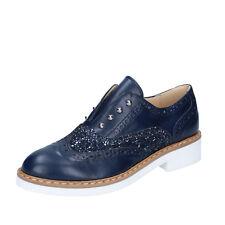 scarpe donna OLGA RUBINI 36 EU classiche blu glitter pelle BY324-C
