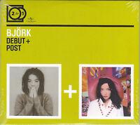2 CD ♫ Compact disc «BJORK ♪ DEBUT + POST» nuovo sigillato digipack