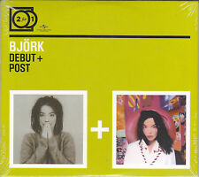 2 CD ♫ Compact disc «BJORK ♪ DEBUT + POST» nuovo sigillato digipack
