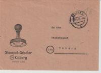 NACH 45, Gebühr bezahlt / Barfreimachung, Coburg, 1.7.46