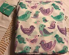 NEW-Target Pillowfort Bird 3 Piece Toddler Sheet Set Purple Aqua Bedding
