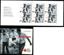Islas Feroe 2001 FOLLETO SB25 Cruz Roja, Camilla Panel de 6 SG 405 estampillada sin montar o nunca montada/unm