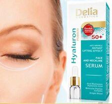 Delia Hyaluron Anti-arrugas instantáneo Efecto Lifting Cara Cuello Suero 50+ 10 Ml