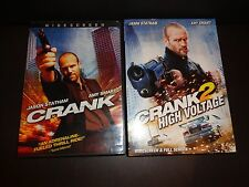 CRANK & CRANK 2 HIGH VOLTAGE-2 DVDs-JASON STATHAM against Chinese &Mexican gangs