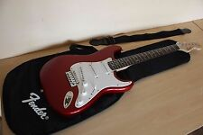 Squier by Fender Stratocaster Electric Guitar + Case + GigBag in top condition