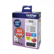 *NEW* Brother LC263CL Cyan, Magenta and Yellow High Ink Cartridge (1pcs Each)