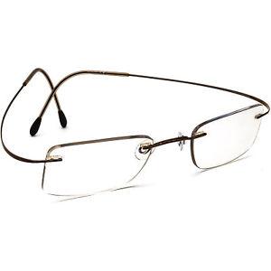 Silhouette Eyeglasses Brown Rimless Metal Frame Austria 47[]21 130