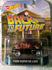 HOT WHEELS 1/64 RETRO BACK TO THE FUTURE FORD SUPER DELUXE NEW