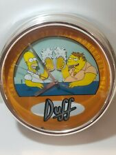 SIMPSONS CAN'T GET ENOUGH OF THAT WONDERFUL  DUFF CLOCK