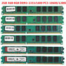 2GB 4GB 8GB DDR3-1333/1600Mhz PC3-10600/12800 240Pin DIMM PC Desktop Memory RAM