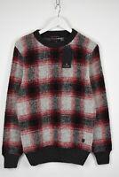 SCOTCH & SODA  Men MEDIUM Multicolor Wool Blend Checked Fluffy Sweater 11145*mm