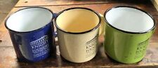Knight Foundry 16 ounce Ceramic Miners' Mug in Green Blue and Cream