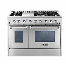 Thor Kitchen Hrd4803U 48 Inch Dual Fuel Range with 6 Burner Gas Cooktop Oven